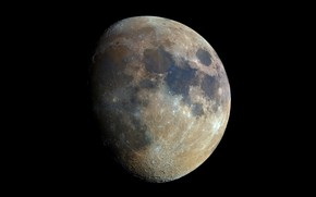 Обои планета, спутник, Луна