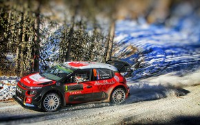Картинка Зима, Авто, Снег, Спорт, Машина, Гонка, Ситроен, Citroen, Автомобиль, WRC, Rally, Ралли, Stephane Lefebvre, Citroen …