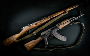 Картинка оружие, автомат, винтовка, weapon, калашников, assault rifle, мосина, акм