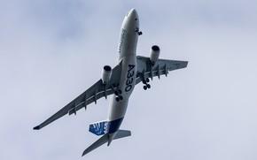 Картинка реактивный, Широкофюзеляжный, пассажирский самолёт, Airbus A330-200