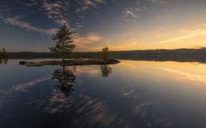 Обои остров, High Water, озеро