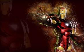 Картинка fantasy, armor, Iron Man, Marvel, comics, digital art, artwork, superhero, fantasy art, helmet, technology