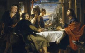 Картинка картина, Ужин в Эммаусе, Питер Пауль Рубенс, мифология, Pieter Paul Rubens