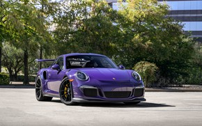 Обои Porsche, GT3RS, Purple