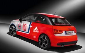 Картинка car, wallpaper, sport, logo, football, FC Bayern Munchen, Audi A1