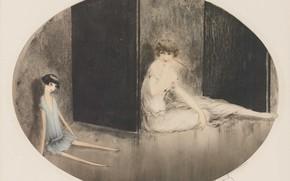 Картинка 1926, Louis Icart, арт-деко, офорт и акватинта, Французская кукла