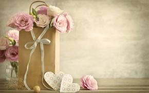 Картинка любовь, цветы, праздник, сердечки, день влюбленных, эустома