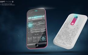 Картинка дизайн, телефон, смартфон, аппарат, Concept phone for Tony Stark