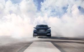 Картинка Lincoln, дым, вид спереди, Aviator, 2019