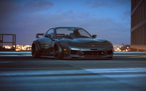 Картинка Mazda, Car, RX-7, Tuning, Future, by Khyzyl Saleem