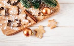 Картинка елка, Новый Год, печенье, Рождество, happy, Christmas, wood, New Year, Merry Christmas, Xmas, cookies, decoration, …