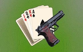 Картинка карты, стол, опасность, Оружие, казино, харизма, джекпот