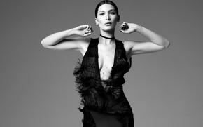 Картинка модель, черно-белое, Bella Hadid