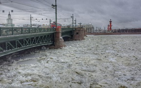 Картинка Frozen, Bridge, Neva, Sankt Petersburg