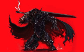 Обои sword, game, armor, anime, man, ken, blade, Berserk, manga, powerful, strong, Guts, bakemono, berserk armor
