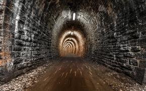 Обои дорога, город, туннель