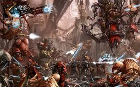 Картинка Warhammer 40 000, tyranids, techpriest, Adeptus Mechanicus