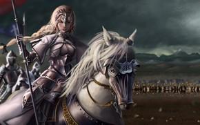 Картинка девушка, лошадь, аниме, воин, арт, Fate/Grand Order, Судьба/великая Кампания
