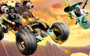 Картинка car, toy, weapon, fight, LEGO, ninja, animated film, shinobi, animated movie, Ninjago, LEGO Ninjago