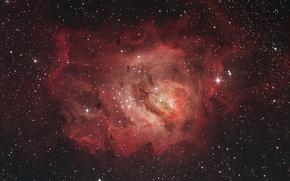Обои гигантское межзвёздное облако, в созвездии Стрельца, Туманность Лагуна
