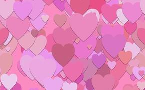Обои обои, текстура, сердечки, pink, background, pattern, hearts