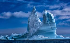 Обои айсберг, море, Гренландия, лед
