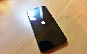Обои Apple, Black, California, Cupertino, iPhone X