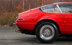 Картинка Красный, Цвет, Авто, Ретро, Диск, Машина, Классика, Колесо, Автомобиль, 365, Спорткар, Gran Turismo, Daytona, Ferrari ...