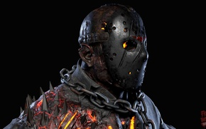 Картинка demon, Jason Voorhees, game, monster, devil, fear, assassin, evil, mask, strong, Friday The 13th, Jason, …
