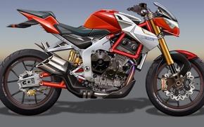Картинка рисинок, мотоцикл, MV Agusta, dangeruss, Brutale Dragster 800 RR