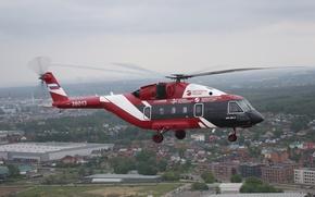 Обои Ми-38, полёт, Вертолёты России, Mi-38, вертолёт