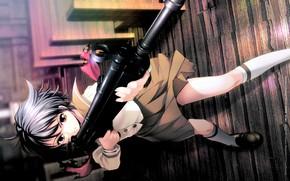 Картинка школьница, винтовка, перестрелка, стрелок, крутая, Phantom of Inferno, Elen