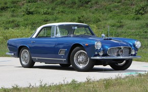 Картинка Maserati, Roadster, Blue, Old, Convertible, 3500 GT