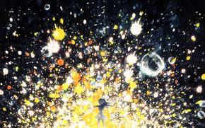 Картинка девушка, пузыри, Y_Y, разноцветные брызги
