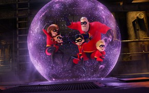 Обои Action, Superheroes, Girls, Family, year, 2018, Super, Violet, EXCLUSIVE, Animation, Walt Disney Pictures, Movie, Film, ...