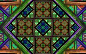 Картинка Зеленый, Узор, Геометрические фигуры