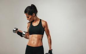 Картинка girl, female, workout, fitness