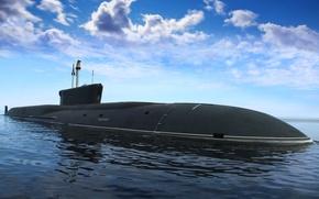 Картинка субмарина, подводный, подводная лодка, крейсер, атомный, назначения, Борей, стратегического