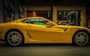Обои жёлтый, Ferrari, суперкар