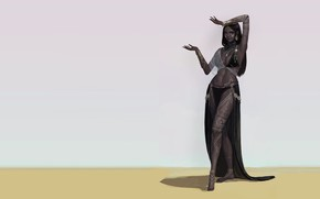 Картинка арт, танцовщица, fudu mon