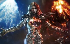 Картинка girl, game, armor, weapon, woman, Paragon, mahou, warrio