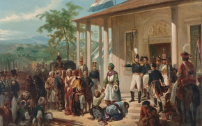 Картинка Живопись, Nicolaas Pieneman, The Submission of Prince Dipo Negoro General De Ko, -, Ck