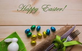 Картинка праздник, пасха, rabbit, holiday, сервировка, Happy Easter, vasanty