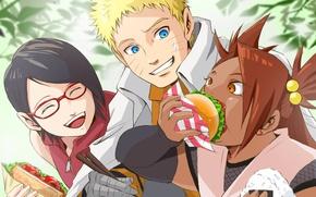 Картинка Naruto, anime, ninja, shinobi, Uzumaki Naruto, nanadaime hokage, kunoichi, Uchiha Sarada, Boruto: Naruto The Next …