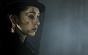 Картинка sad, dress, hat, woman, grief, Taboo, black dress, veil, TV series, Oona Chaplin, miniseries, mourning