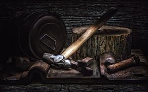 Картинка фон, молоток, инструмент