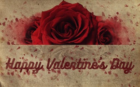 Картинка red, love, rose, flower, valentine's day, valentine, happy valentine's day