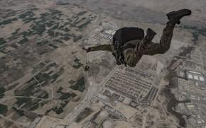 Картинка земля, прыжок, парашютисты