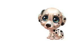 Картинка арт, щенок, собачка, далматин, детская