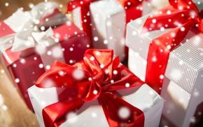 Обои celebration, bow, box, подарки, gifts